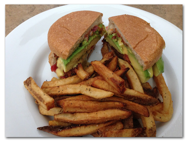 Field Roast Burger and Fries