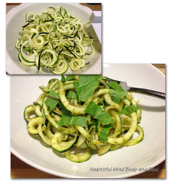Zucchini Pesto Noodles