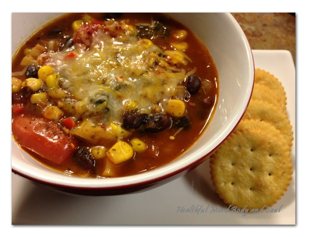 Black Bean Fennel Soup with Cheese