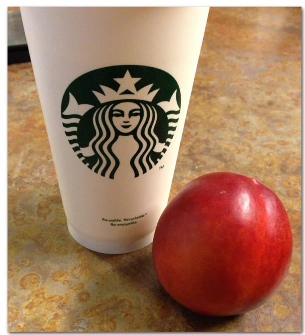 Coffee and Nectarine