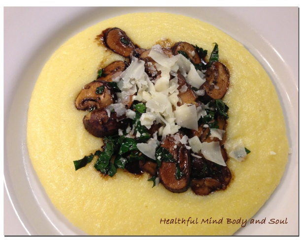 Polenta with Mushrooms and Kale