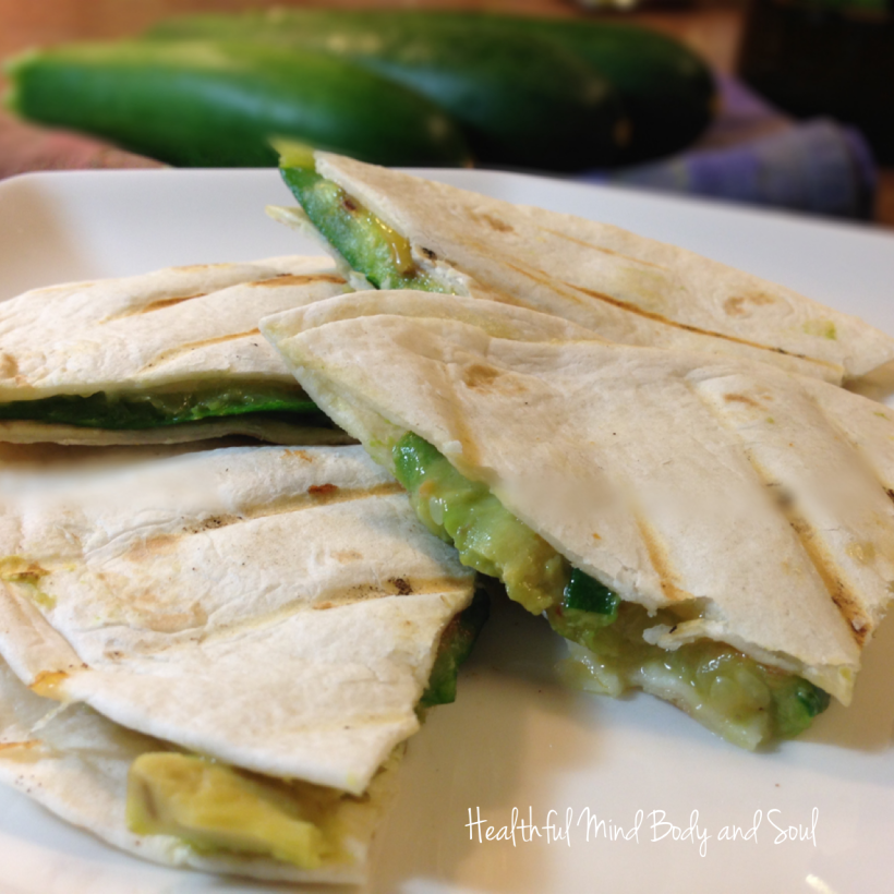 Zucchini  and Avocado Quesadilla